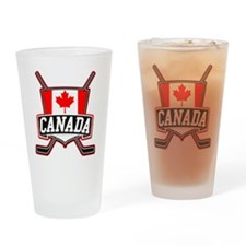 Canadian Hockey Shield Logo Drinking Glass