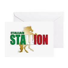 Italian Stallion Greeting Card