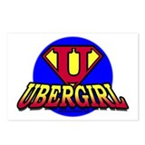 Uber Girl Postcards (Package of 8)