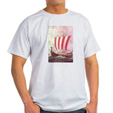 Viking ShipsAsh Grey T-Shirt