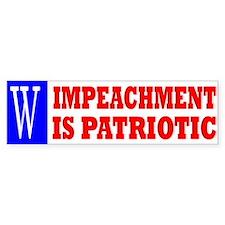 Impeachment is Patriotic bumper sticker