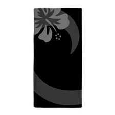 Hibiscus Black Beach Towel