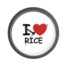 I love rice Wall Clock