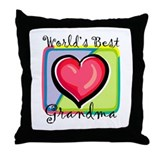 """World's Best Grandma"" [Engli Throw Pillow"