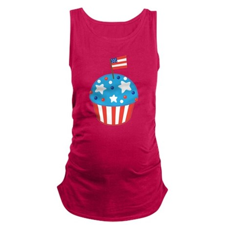 4th of July Independence Day Cupcake Maternity Tan