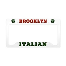 Brooklyn New York Italian License Plate Holder