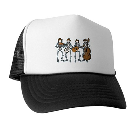 Cowboy Music Skeletons Trucker Hat