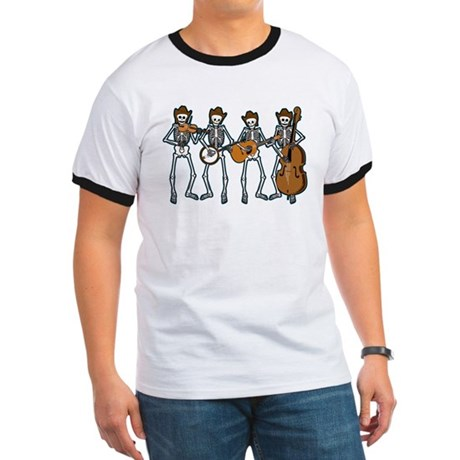 Cowboy Music Skeletons Ringer T