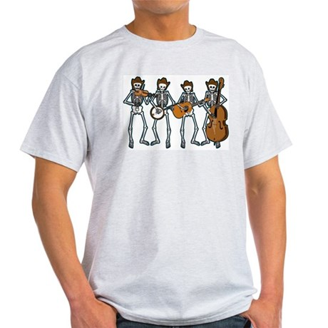Cowboy Music Skeletons Light T-Shirt
