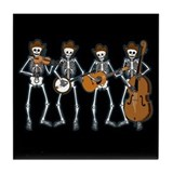 Cowboy Music Skeletons Tile Coaster