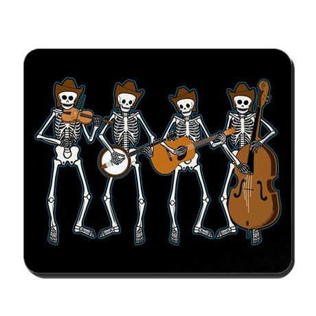 Cowboy Music Skeletons Mousepad