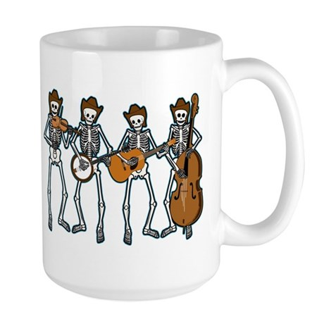 Cowboy Music Skeletons Large Mug