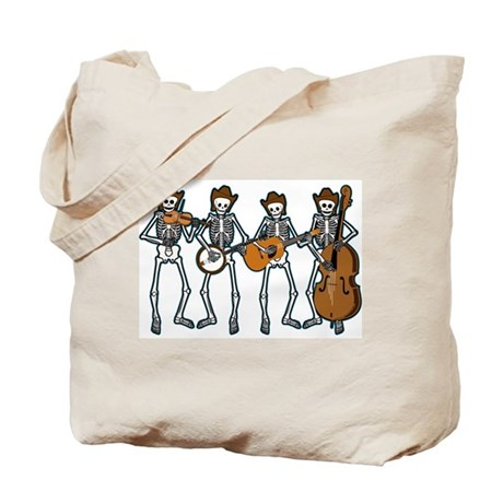 Cowboy Music Skeletons Tote Bag