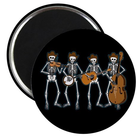 "Cowboy Music Skeletons 2.25"" Magnet (10 pack)"