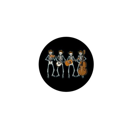 Cowboy Music Skeletons Mini Button