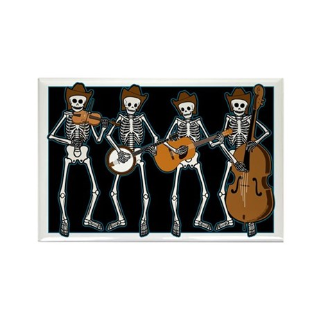 Cowboy Music Skeletons Rectangle Magnet