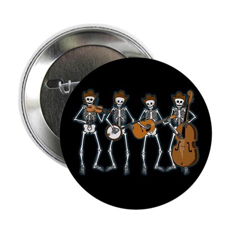 "Cowboy Music Skeletons 2.25"" Button (10 pack)"