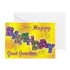 Birthday card for Great Grandma Greeting Card