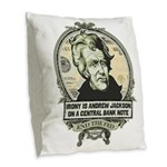 Irony Is Andrew Jackson Burlap Throw Pillow