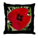 Throw Pillow - Red Poppy # 38