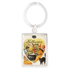 Halloween Greeting Card 21 Portrait Keychain