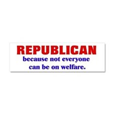 Republican Welfare Car Magnet 10 x 3