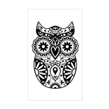 Sugar Skull Owl Decal