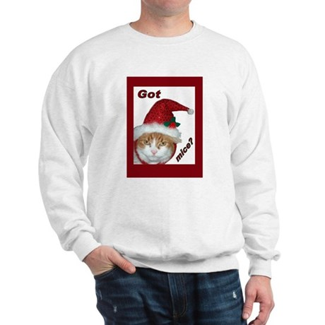Santa Hat Christmas Cat Sweatshirt