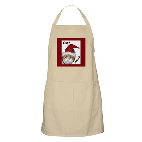Santa Hat Cat BBQ Apron