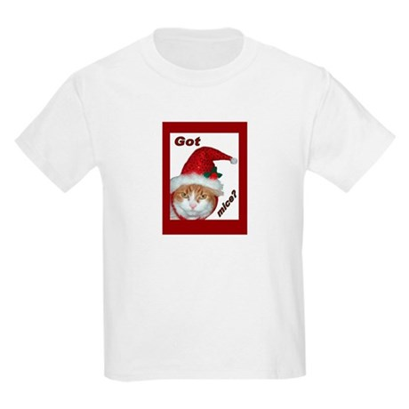 (Kids) Santa Hat Cat Kids T-Shirt