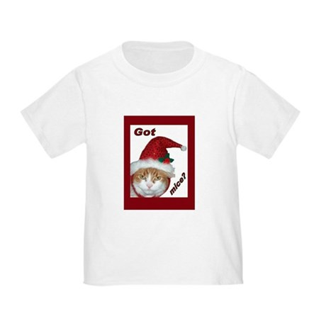 Santa Hat Christmas Cat Toddler T-Shirt