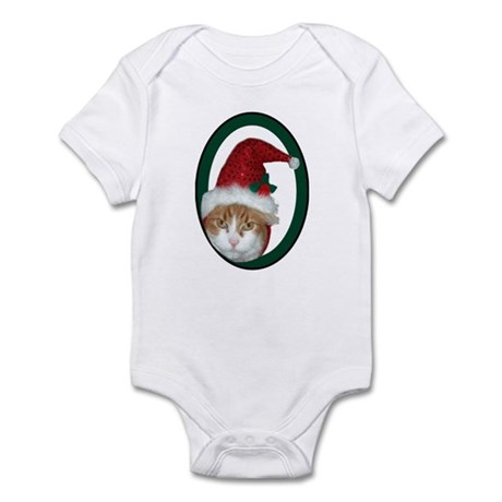 Santa Hat Christmas Cat Infant Creeper