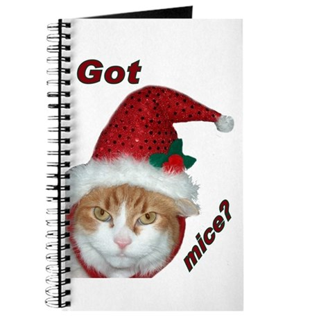 Santa Hat Christmas Cat Journal