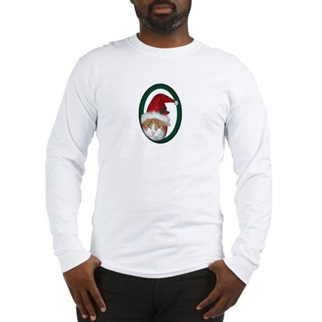 Santa Hat Cat Long Sleeve T-Shirt