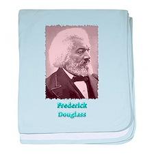 Frederick Douglass 2 w text baby blanket