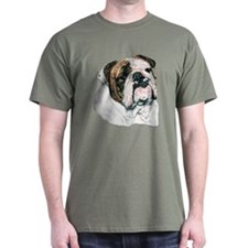 English Bulldog Dark Colored T-Shirt