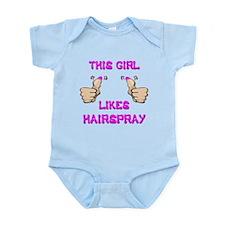 This Girl Likes Hairspray Infant Bodysuit