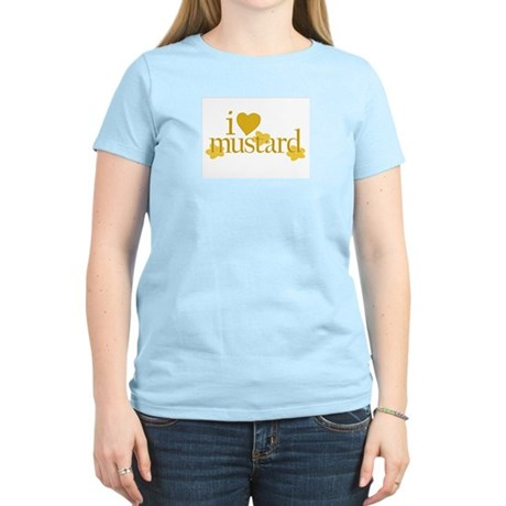 I Love Mustard Women's Pink T-Shirt