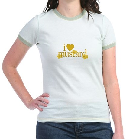 I Love Mustard Jr. Ringer T-Shirt