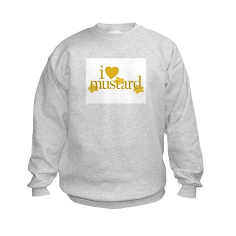 I Love Mustard Kids Sweatshirt