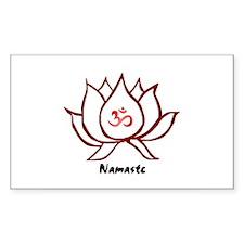 Lotus Rectangle Stickers