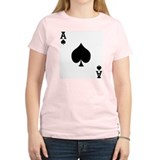 Ace of Spades Women's Pink T-Shirt