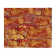 Fried Bacon Background Pattern Throw Blanket