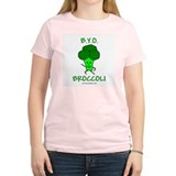 B.Y.O.Broccoli Women's Pink T-Shirt