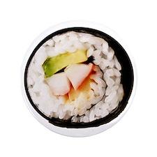 "Funny Realistic Sushi 3.5"" Button"