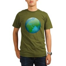 Circular Earth Globe T-Shirt