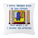 closetknitter Woven Throw Pillow