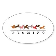 Wyoming horses Decal
