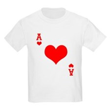 Ace of Hearts Kids T-Shirt