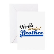 Worlds greatest brother Greeting Cards (Pk of 10)